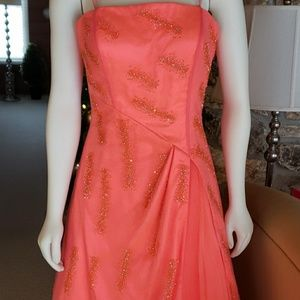 Pink & Orange Long Gown